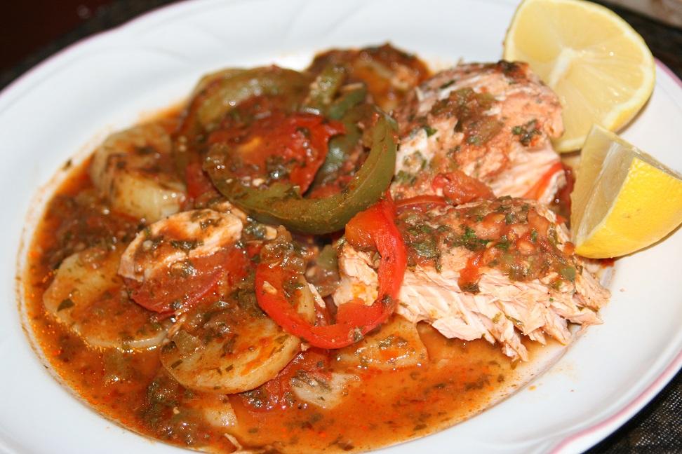 saumon au four à la marocaine