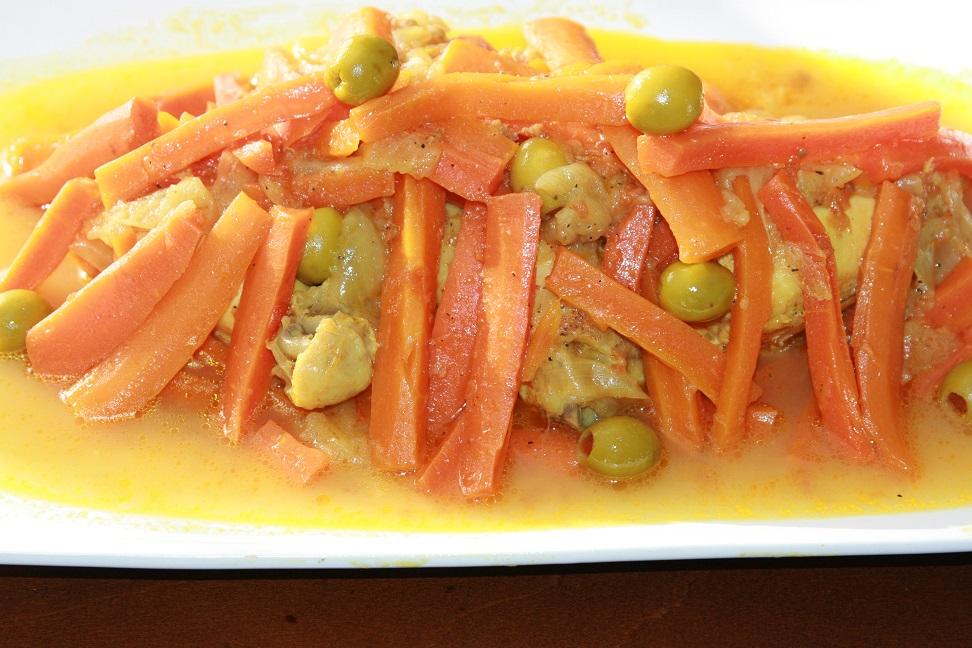Tajine de poulet et carottes