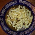 tajine de veau aux frites