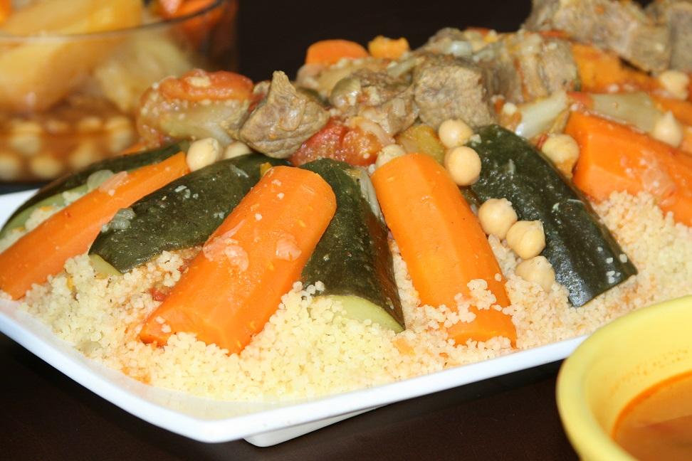 Couscous au boeuf et legumes