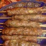 brochette viande hachee
