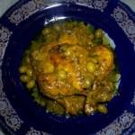 poulet citron confit et olives