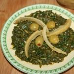 Salade d'épinards (Bakoula)