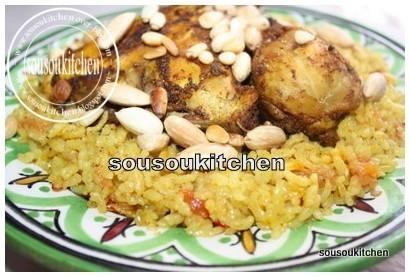 poulet et riz aux epices