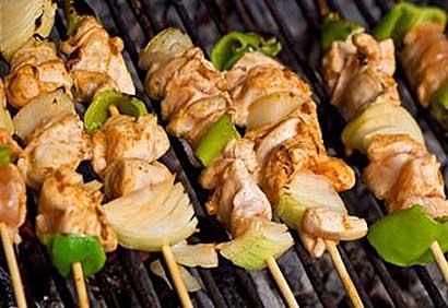 brochettes de poulet grillées