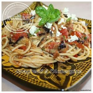 Spaghetti à l'aubergine