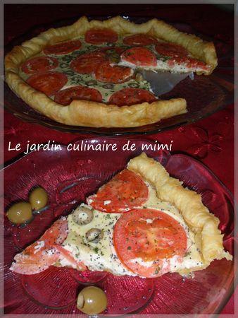 Pizza à la tomate