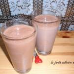 Milkshake à la banane et au chocolat