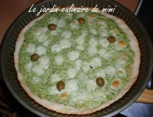 Pizza courgette et mozzarella