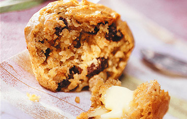 muffins bananes et raisins secs