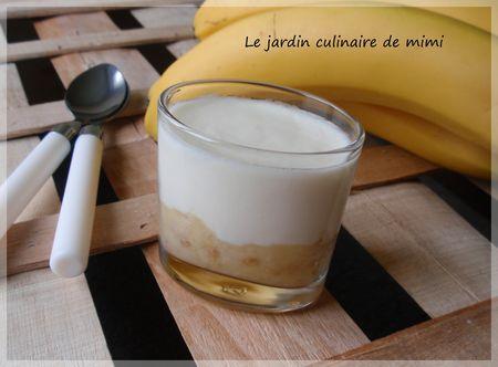 Yaourts vanille- banane