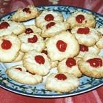 macarons noix de coco et cerise