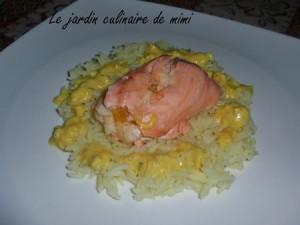 Saumon et riz