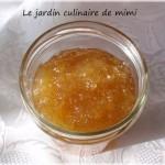 Confiture de pommes et vanille