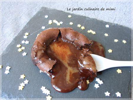 Coulant au chocolat au coeur de nougat blanc