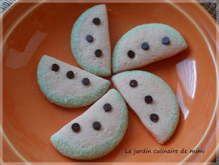 Biscuits tranches de pastèque