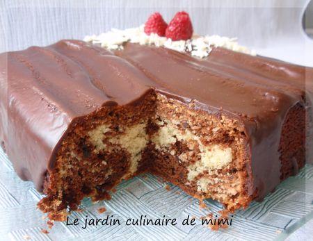 Gâteau marbré italien au chocolat