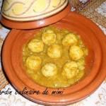 Tajine de boulettes de poulet