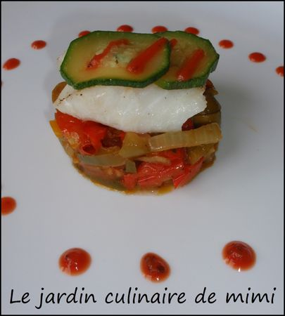 filet de cabillaud et legumes