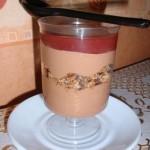 Verrine chocolat et fraise