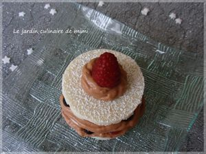 mille feuille chocolat et fruits rouge