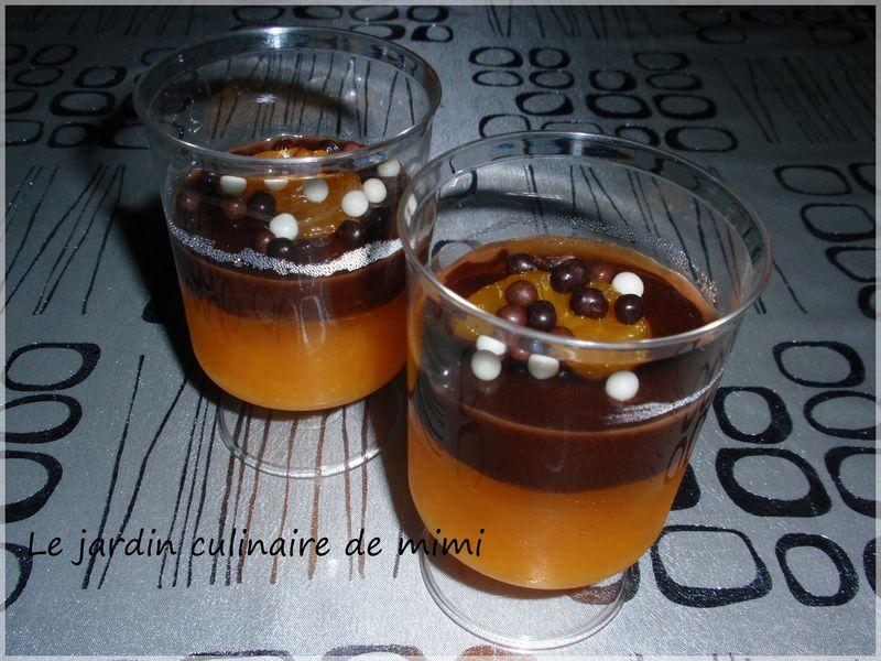 verrine clementine et chocolat
