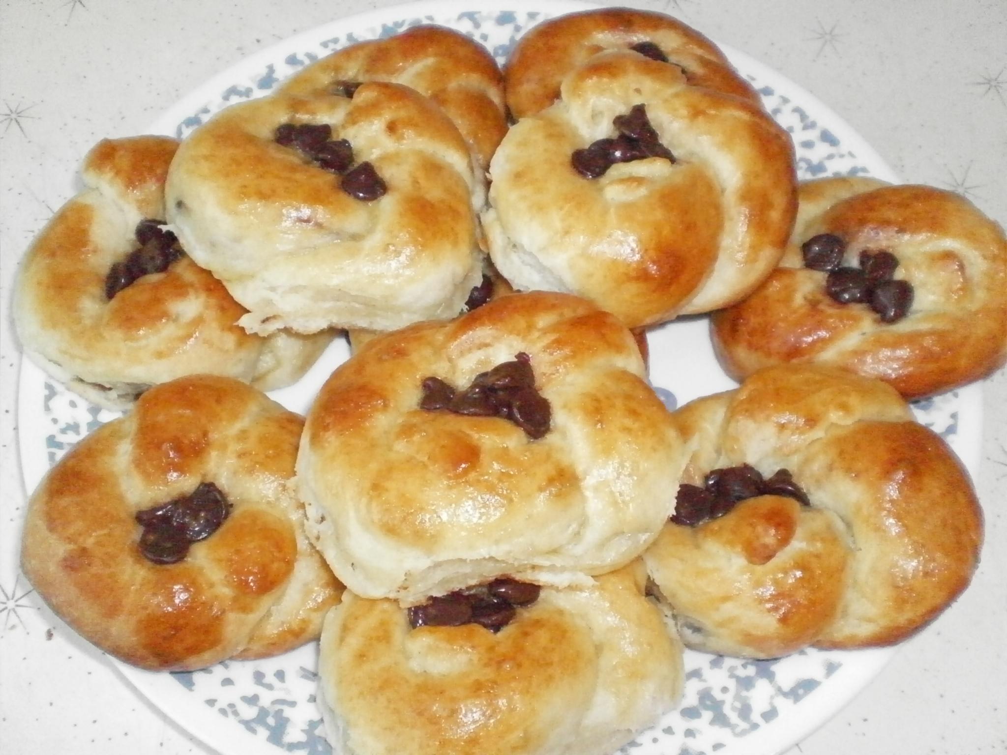 Brioche de pain aux pépites de chocolat