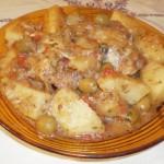 Tajine de poulet et pommes de terre au citron confit