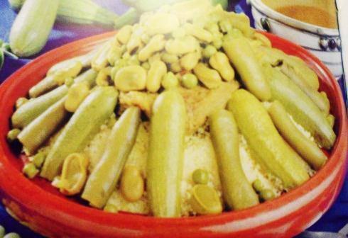 couscous courgette, navet et fèves