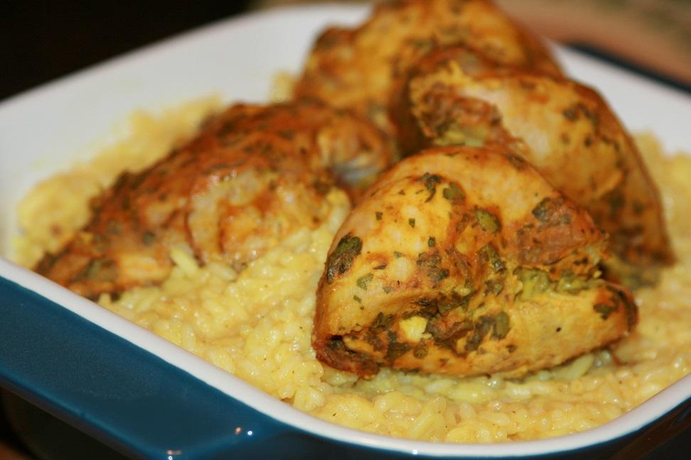 Poulet à la moutarde et riz basmati