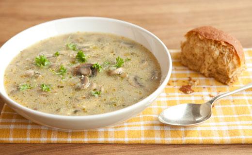 soupe champignons et orge