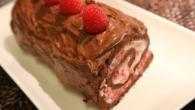 rouleau chocolat et framboises
