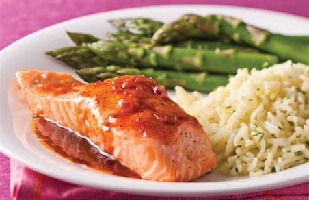saumon et sauce erable et balsamique