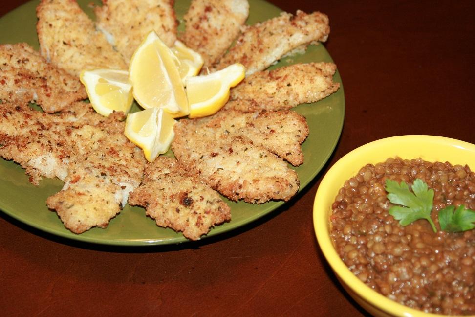 Filets de sole frits à l'huile