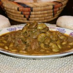 Tajine de veau et fèves (gourganes)