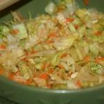 Salade verte aux artichauts