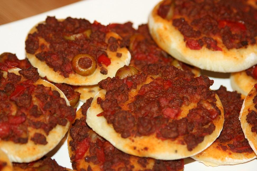 Mini pizzas à la viande hachée