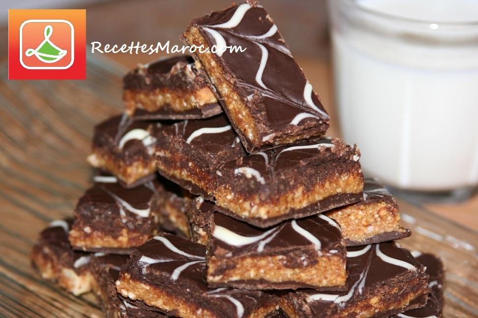 Petits Gâteaux aux Cacahuètes Enrobés de Chocolat