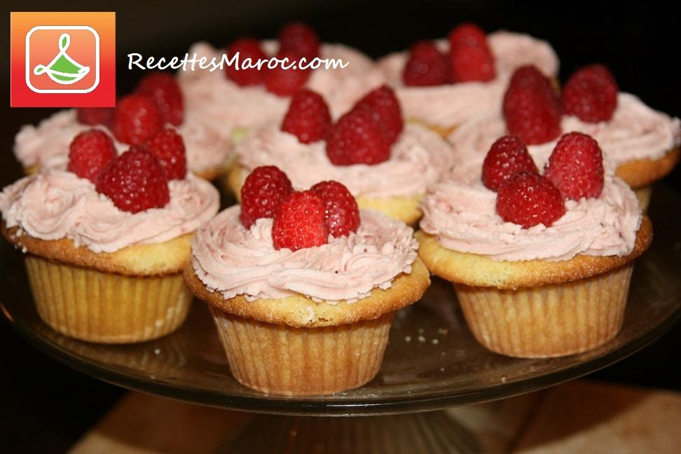 Cupcake Crème au Beurre et Framboises
