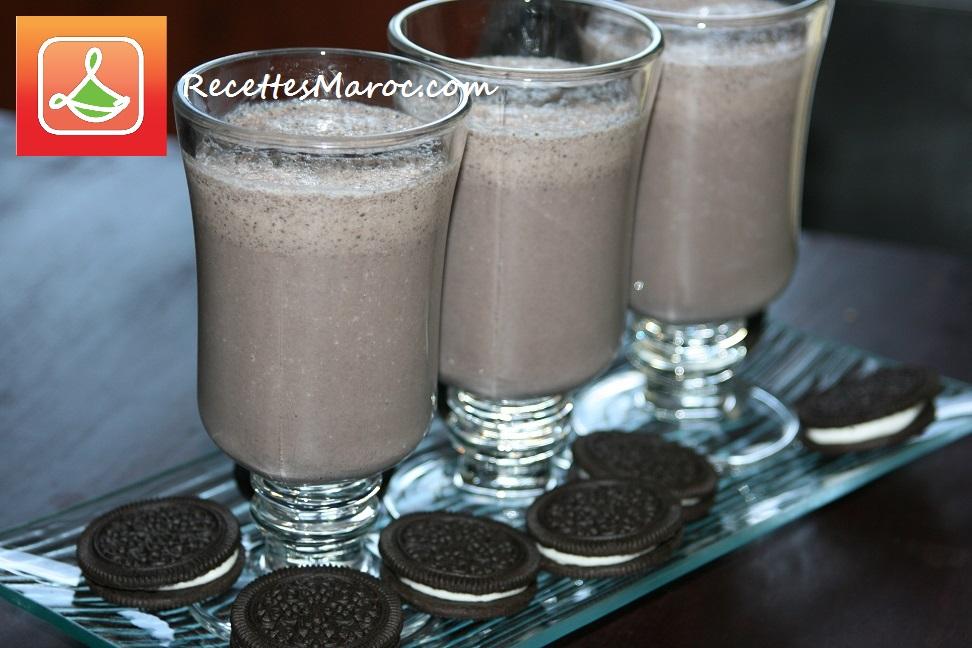 Lait Frappé aux Biscuits Oreo (Milkshake)