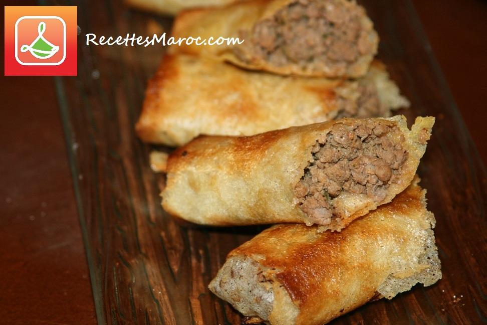 Rouleaux Marocains  à la Viande Hachée