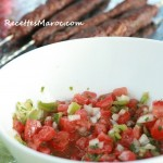 Salade Froide Marocaine aux Poivrons & Tomates