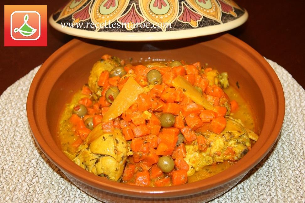 Tagine Marocain au Poulet & Carottes