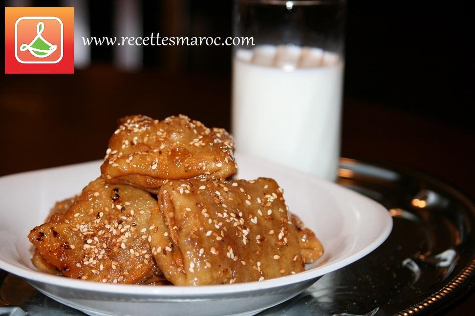 rghaifs frits aux amandes