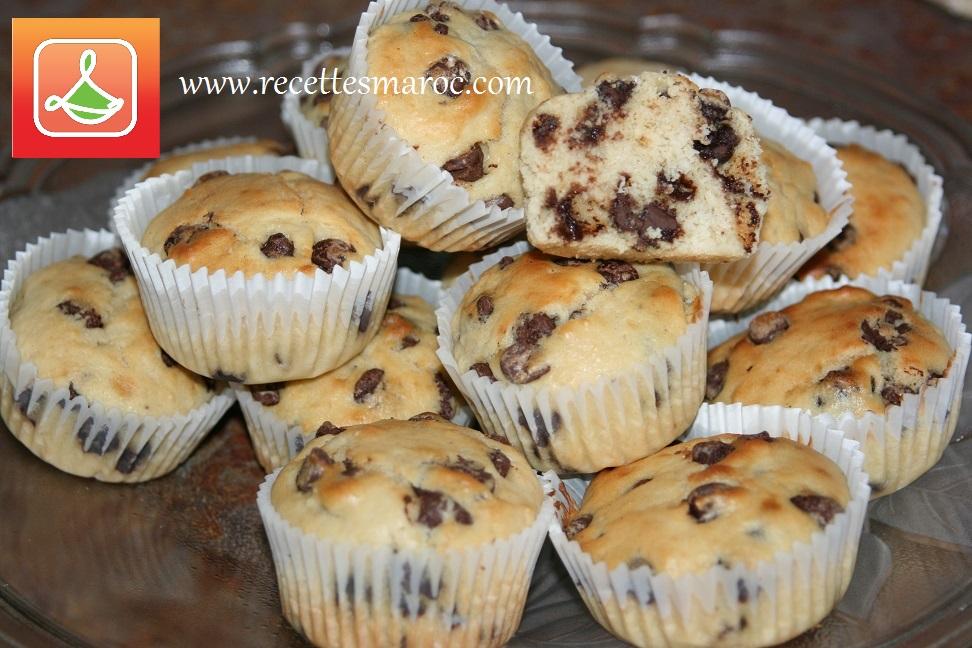 Muffins aux Brisures de Chocolat