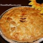 tarte aux pommes couverte