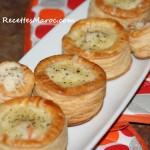 Vol-au-Vent à la Sauce Béchamel & Crevettes