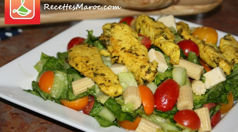 Salade de Poulet Mariné