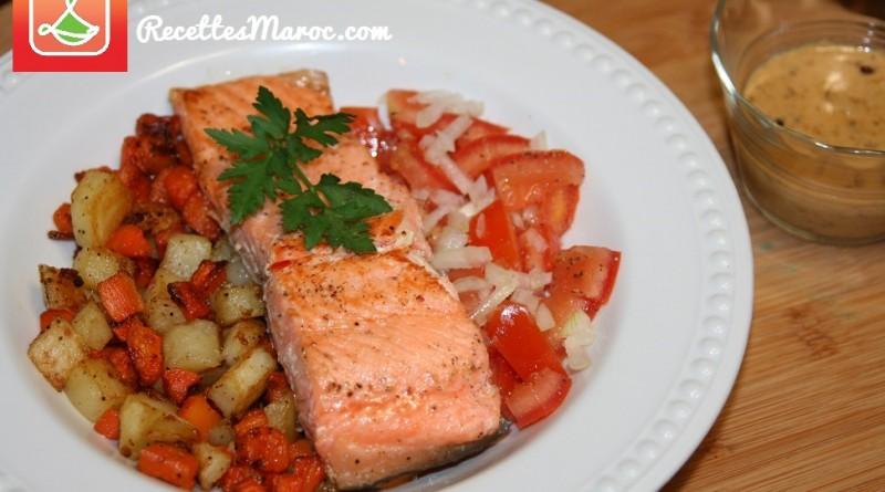 Saumon Grillé & Légumes