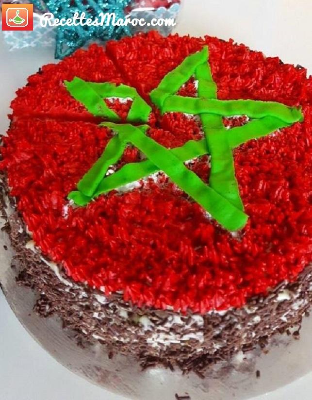 Gâteau Drapeau du Maroc